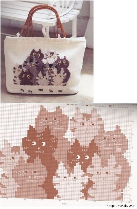 Cats intarsia bag pattern 5308269_uzorkotik11 (459x700, 176Kb)