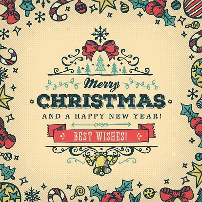 タイトル『Hand Drawn Christmas Wishes - f3087』のスマホ用無料壁紙です。関連キーワード:「優雅」「錯綜」「祝賀行事」「文字」「デザイン」「ラベル」。