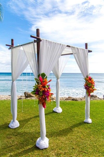 Vibrant Hawaii Beach Wedding Wedding Real Weddings Photos on WeddingWire