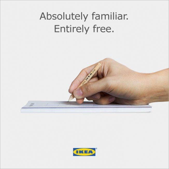 Ikea Singapur antwortet auf die Apple-Präsentation ihres Pencils mit einer eigenen Anzeige