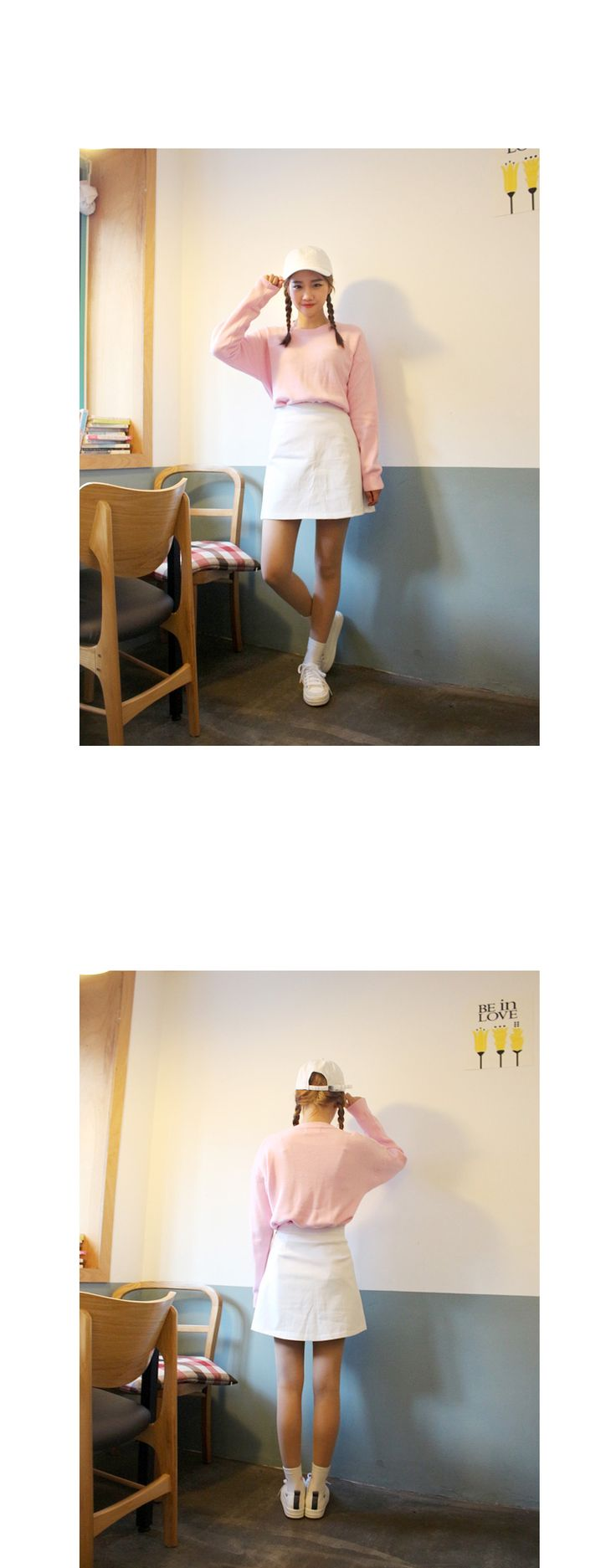 パステルカラーAラインスカート - OLDMICKEY - 女子度アップを約束する華やかなパステルカラーのスカート。高く設定したウエストから裾に向かってふわっと広がるフレアなシルエットが、気になるウエスト周りをほっそり見せてくれます。ごくシンプルなデザインだから究極の普通を追求するノームコアスタイルにピッタリ★コーデの心強い見方になってくれること間違いなし!!