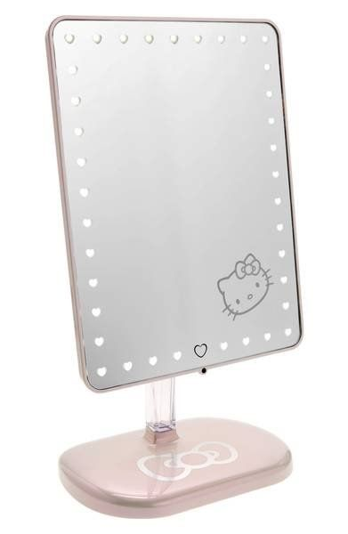 Wirelessly stream music with this Bluetooth-enabled vanity mirror decorated with exclusive Hello Kitty® graphics that lets you listen to your favorite tunes while you get ready.