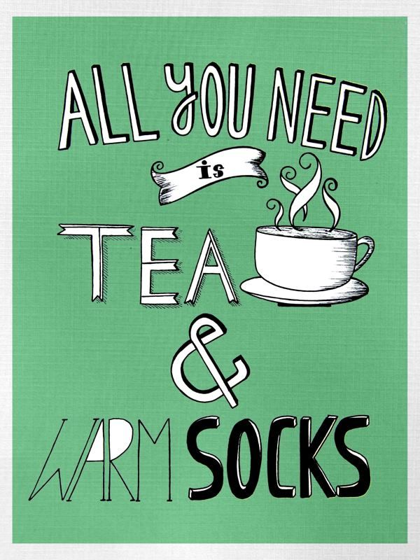All you need is TEA & Warm SOCKS by Samiksha Singh, via Behance.