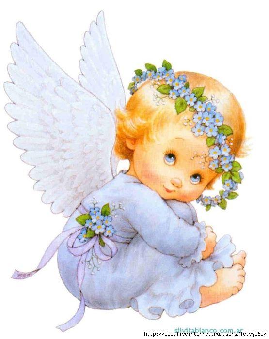 Поздравление, картинки с ангелочком для девочки