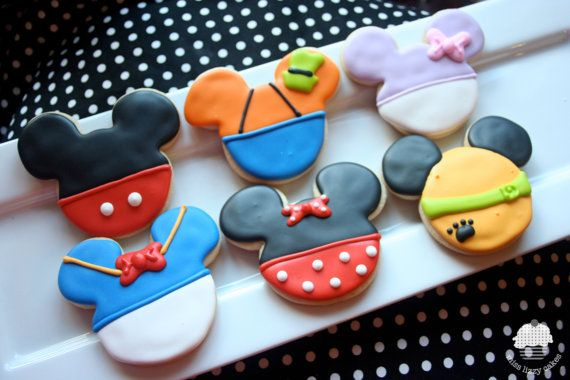 Mickey Mouse Clubhouse Cookies  #mickeymousepartysupplies http://www.justforkids.co.nz/Disney-Mickey-Mouse-Party