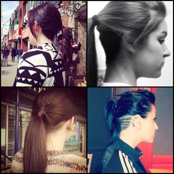 Your Shaved nape with a pony tail ya!!