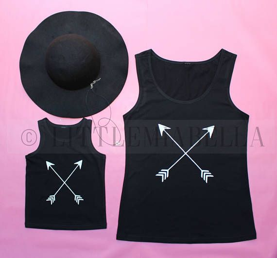 black arrow shirt, mommy and me matching shirts, matching outfits, mother daughter outfits, tank top, gift for women, summer tanks,mom shirt