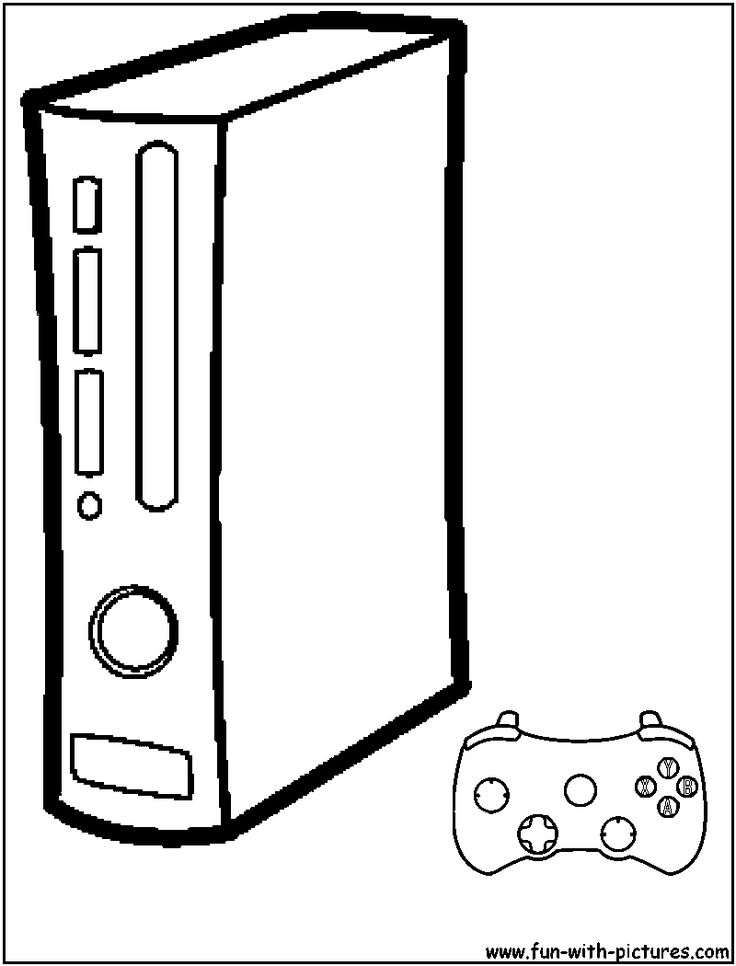 Xbox360 Coloring Page http://www.liannmarketing.com ...