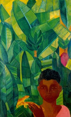 Boy with lizards(1924) - Oil on Canvas - Lasar Segall.