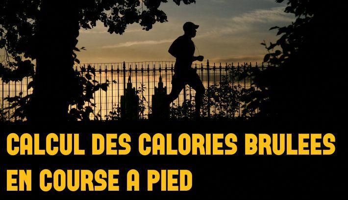 Tableau et calcul des calories brulées pendant la course à pied