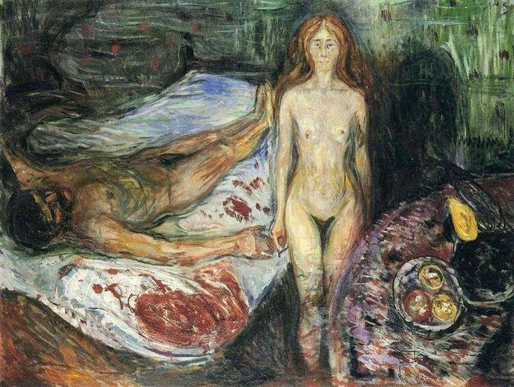 Death Of Marat I,  1907, by  Edvard Munch