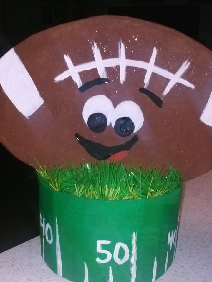 football head for crazy hat day at school l