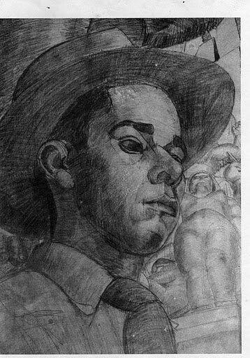 ¡¡¡AUTO-RETRATO 1942 RODRIGO ARENAS BETANCOURT!!
