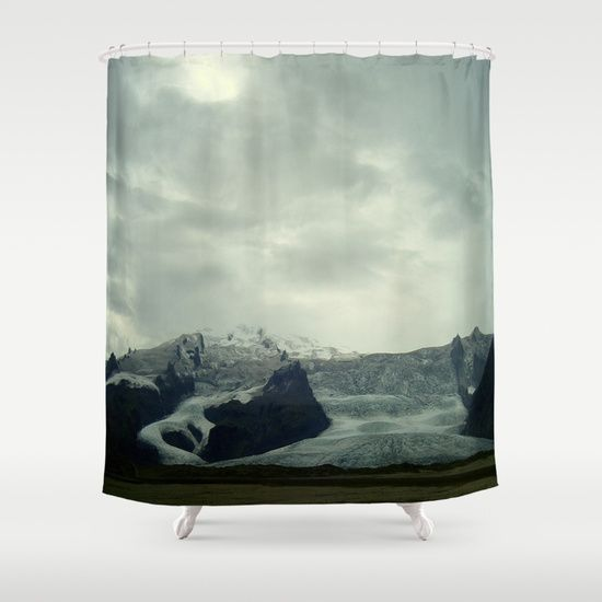 20°% off shower curtains! #iceland #glacier #society6 USE CODE: 20SHOWER #showercurtains #bath