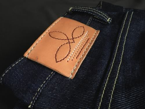 stitched leather patch