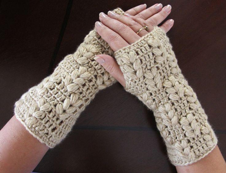 Crochet : Guates sin dedos (Mitones). Parte 2 de 3 (+playlist)
