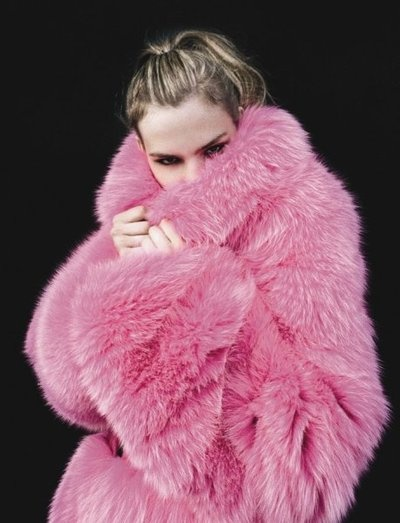 pink furFaux Fur, Fur Coats, Pink Coats, Fashion, Colors, Bubbles Gum, Hot Pink, Foxes, Winter Coats