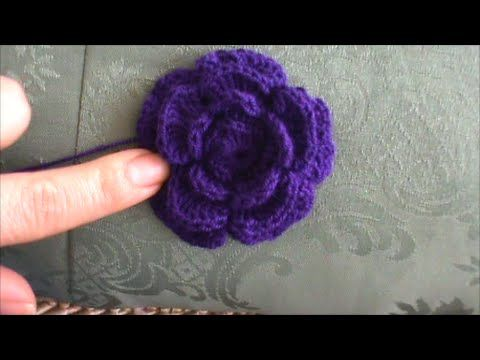 Crochet : Flor de 8 petalos - YouTube