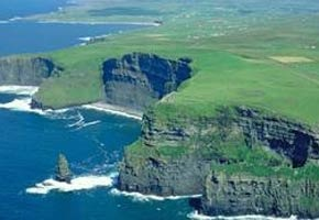 Ireland; the iconic Cliffs of Moher in County Clare