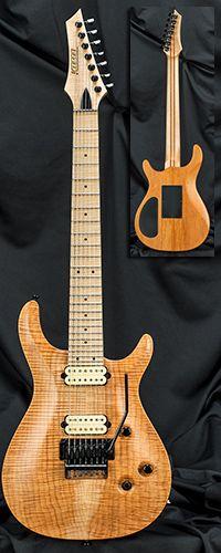 Kiesel Guitars CT7C 7-String California Carved Top Guitar with Floyd Rose Tremolo Serial Number 132675