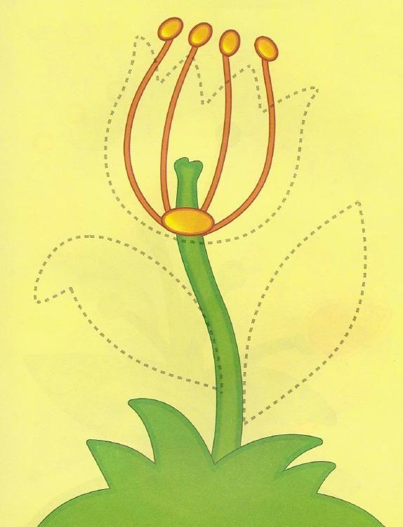 детские аппликации цветы