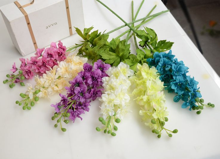 Silk Flowers Bouquet Fake Weddigns Party Events Plastic