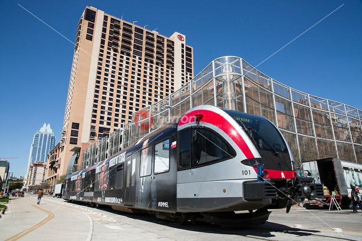 The Capital MetroRail commuter rail station, the Red Line, is adjacent to the Hilton Austin hotel in downtown Austin, Texas, adjacent to the...