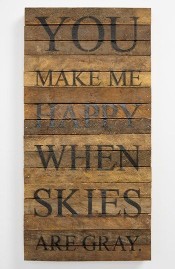 'You Make Me Happy' Wood Wall Plaque available at #Nordstrom (or My Sweet Holly)