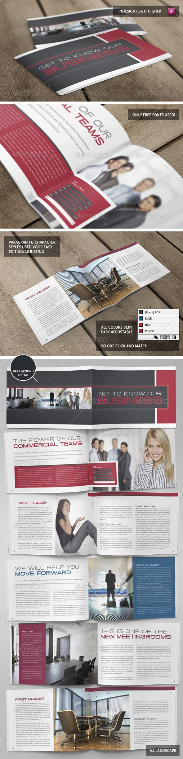 Stylish Business Booklet Template — InDesign INDD #templete #photo • Available here → https://graphicriver.net/item/stylish-business-booklet-template/3771544?ref=pxcr