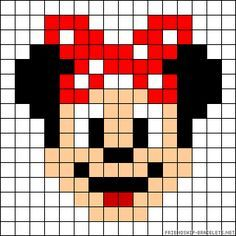 Minnie Mouse perler bead pattern - friendship bracelets.net