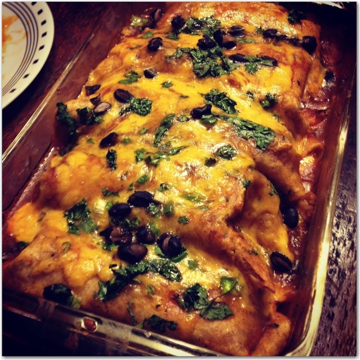 MOUTH WATERING VENISON ENCHILADA RECIPE----added deer roast instead of ground meat and added avacodo and plain greek yogurt as topping. 5 stars!!!!!!!