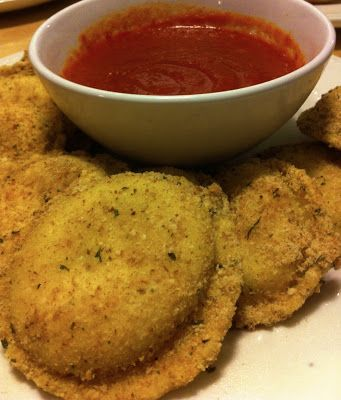 "The Art of Comfort Baking: Oven Toasted ""Fried"" Ravioli"