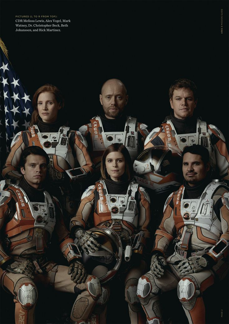The Martian cast - Jessica Chastain, Aksel Hennie, Matt Damon, Sebastian Stan, Kate Mara, Michael Peña
