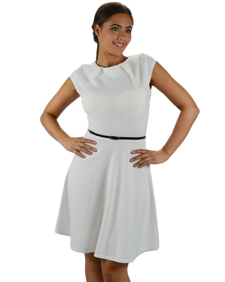 White Casual Dress: Young Women Clothing, Cheap Casual ...