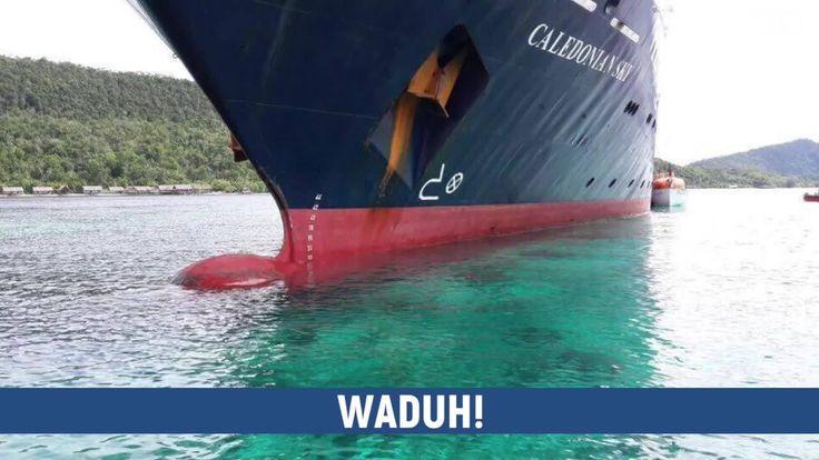 Karang di Raja Ampat yang rusak karena kapal pesiar Inggris viral di media sosial. Sudah lihat parahnya kerusakan yang ditimbulkan? Tonton videonya di sini: http://detik.id/6C1VMd  Via: 20detik