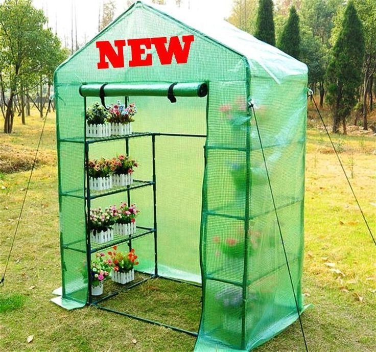 Walk In Greenhouse Small Cheap Outdoor Patio Garden Grow Plant 4-Tier Shelves UK