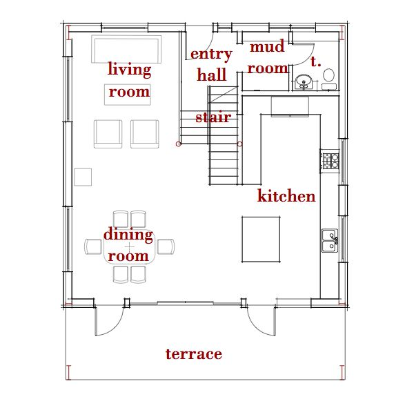 1000 ideas about small basement apartments on pinterest for Basement floor plans with stairs in middle