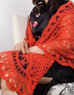 Tina's handicraft : crochet shawl