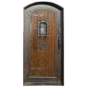 Trento 38 In X 81 In Bronze Prehung Right Hand Left Hand Entry Door Trwood1 At The Home Depot
