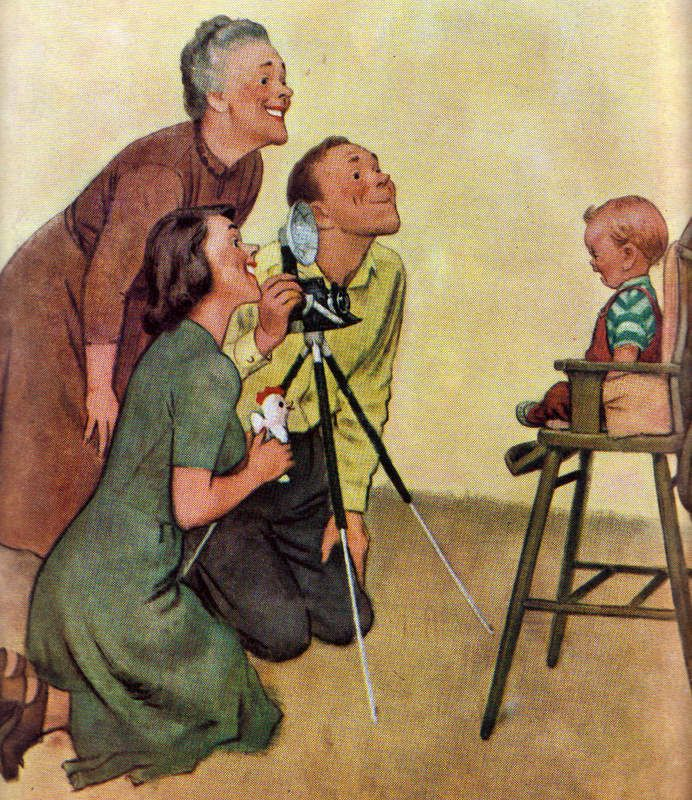 Haha! Classic Norman Rockwell, my dad's favorite painter.