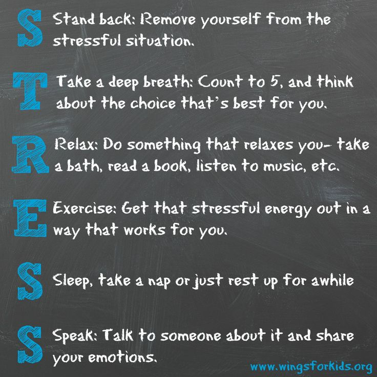 Great way for kids to remember self-management techniques when stressful emotions arise!  #STRESS #SEL