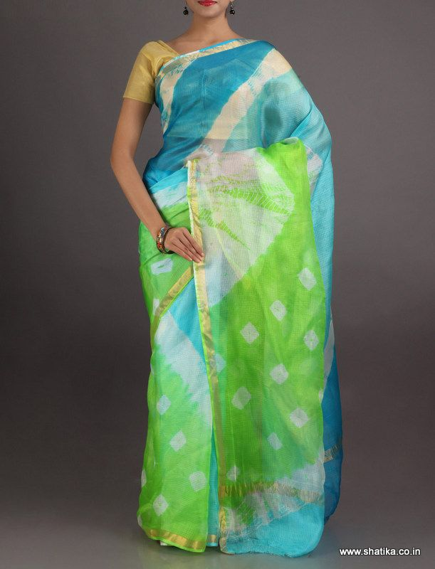 Simi Cool Looking Dockets And Lines #LehariyaSilkSaree