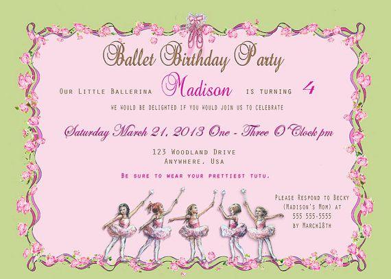 Best 25 Invitations ballet ideas – Angelina Ballerina Birthday Invitations