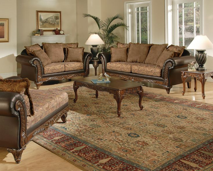 Superieur Victorian Style Living Room Set With Chaise Lounge. #home #furniture