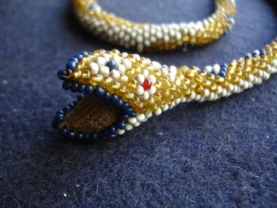 WW1 Turkish Prisoner of War Bead Snake - these were made by Turkish prisoners of war during WW1
