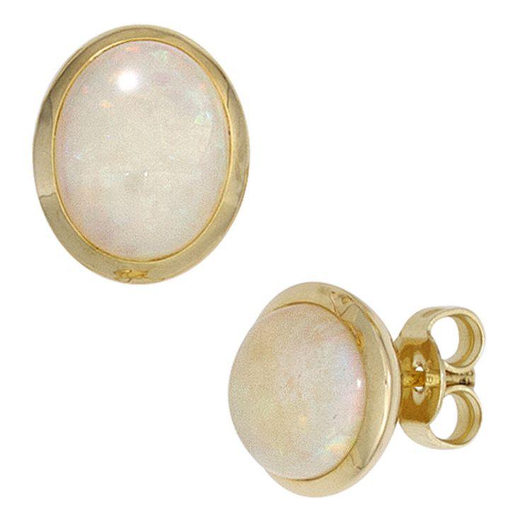 Ohrstecker 585 Gold Gelbgold 2 Opale Ohrringe A32608 http://cgi.ebay.de/ws/eBayISAPI.dll?ViewItem&item=161976047372&ssPageName=STRK:MESE:IT