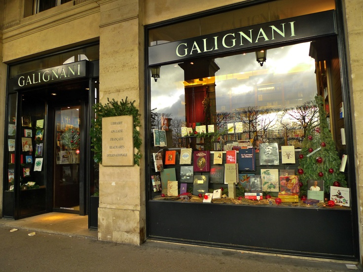 THE FIRST GALIGNANI bookshop in Paris was opened in 1801, on rue Vivienne but, thanks to Baron Haussmann's redevelopment of Paris, it moved to the rue de Rivoli in 1856.