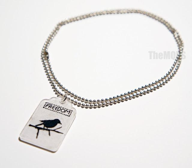 * Free bird / Wolny ptak * necklace / naszyjnik handmade, cena: 25 zł     Więcej na: * themqps.blogspot.com *