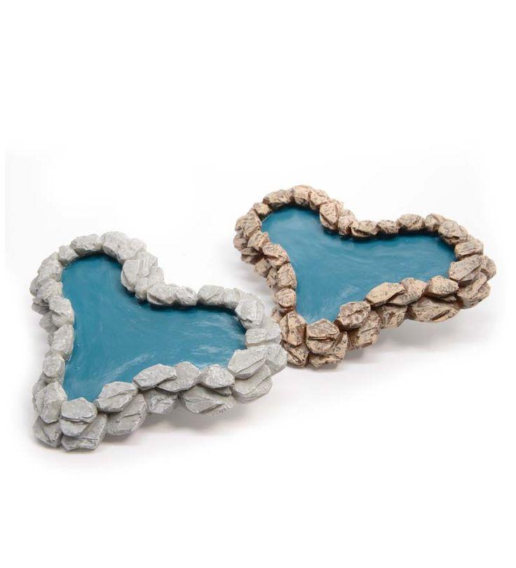 Miniature Fairy Garden Pond is heart-shaped and so cute! - Miniature Fairy Gardening: Cottages, Furniture and Fairy Garden Supplies
