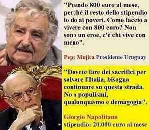 Presidenti a confronto  LI PAGHIAMO SOLO PER LE CERIMONIE DI STATO PEZZI DI ......